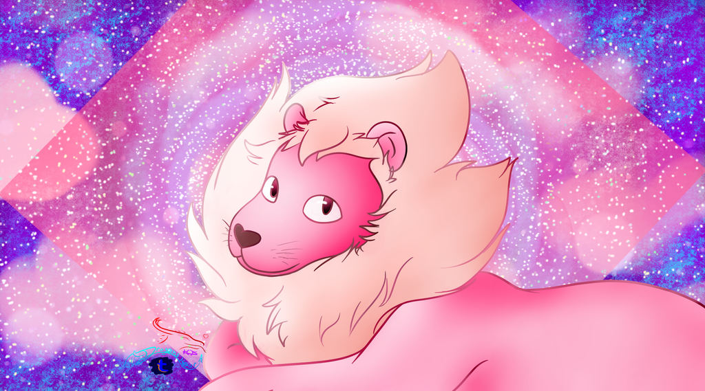 LION!!! (we're not gonna talk about why hes pink)  but hes adorable :3 Steven Universe belongs to the lovely Rebecca Sugar! :3