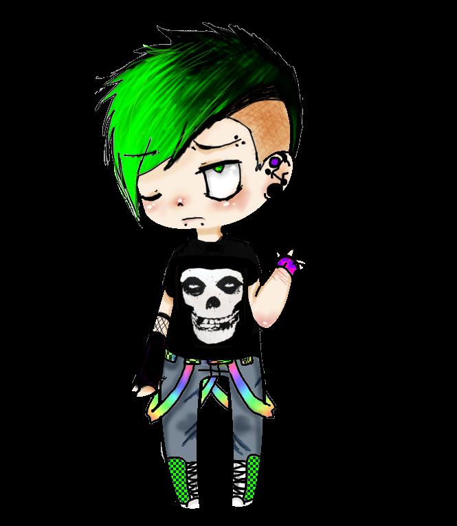 Emo boy foto punk style picture