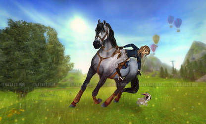 Star Stable Online Rabbit race by Eastlord