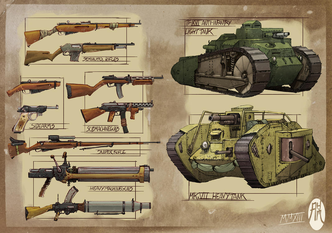 WWXI Weapons/Tanks by BistroD