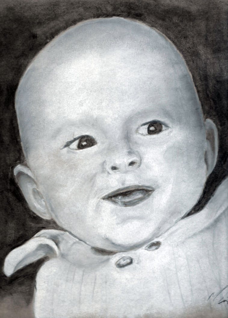 Callum as a baby by KaozKreations