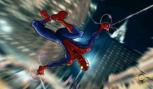 Amazing Spider-Man Blue by FuzzyDrawings