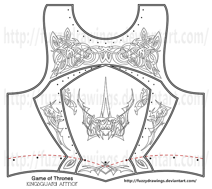 Game of Thrones - Kingsguard Armor - Chest Armor by FuzzyDrawings on ...
