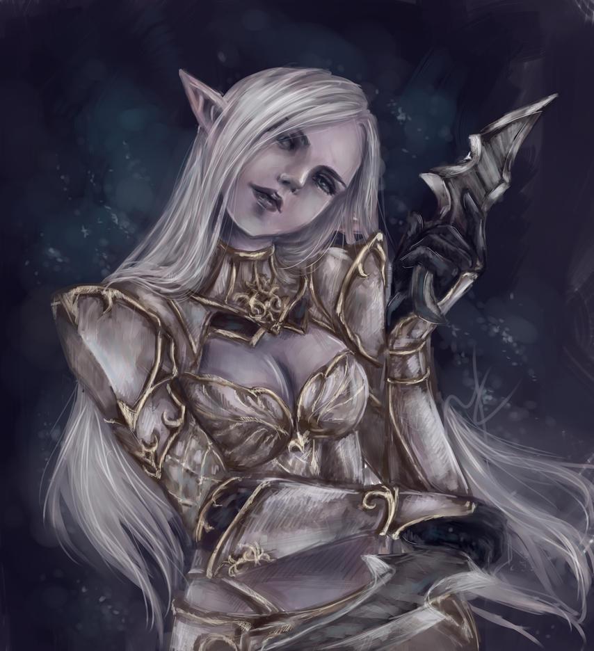 Lineage 2 Dark Elf By Drearyburn On Deviantart
