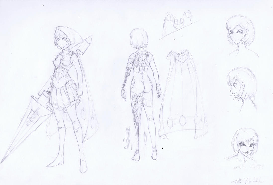 Rad riding hood character sheet. by escagorouge