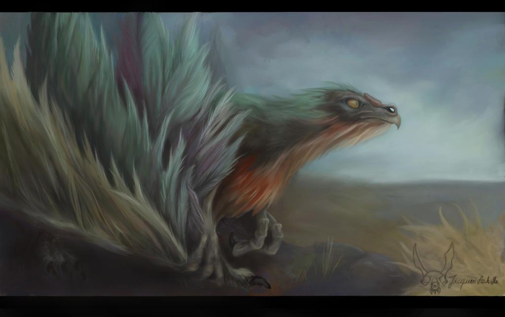 Green Dino drake by Jacquesofalltrades