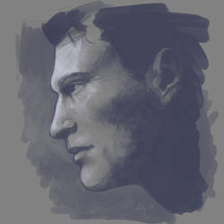 Connor study by MissMeggsie