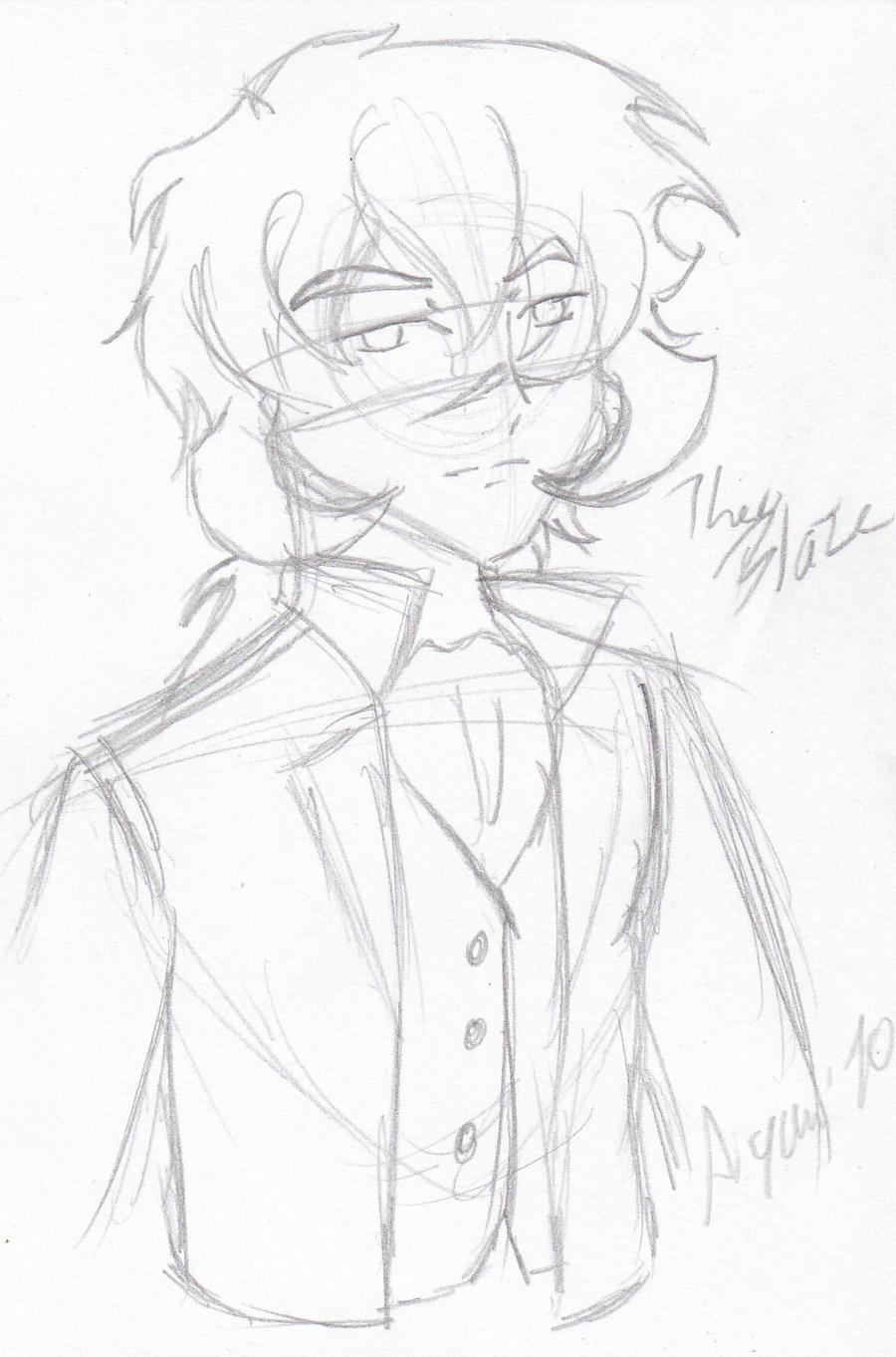 Character Design: Theo Blaze by HeroAiyami
