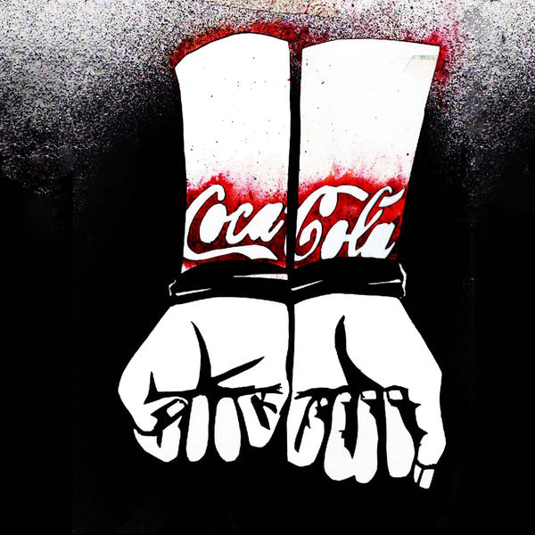 Anti- Coca- Cola Stencil by myspeedofdark