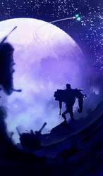 Lonesome Robots - They took my starship ! - Night