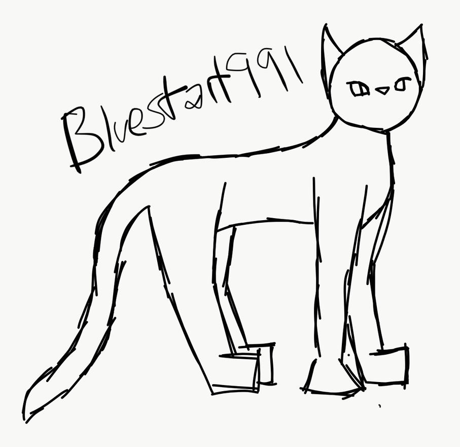 Cat template plain by Bluestar1991