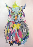 Owl in colors