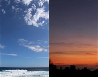 Gradients between earth and sky