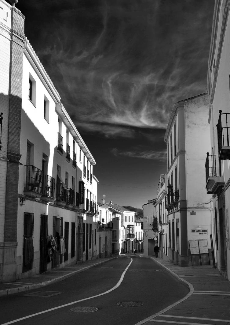 A typical street in Ronda by roodpa