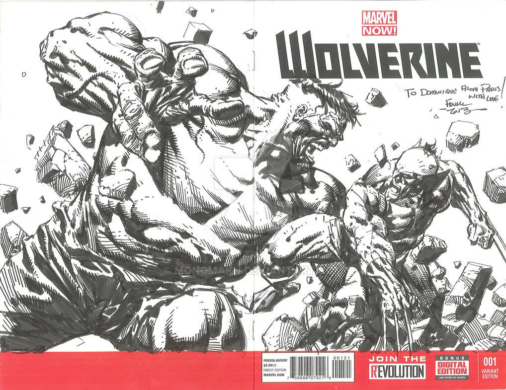 David Finch Wolverine vs Hulk 07 2013