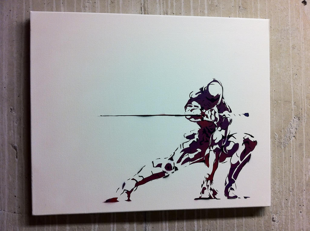 Metal gear solid ninja stencil by enigmagic on deviantart