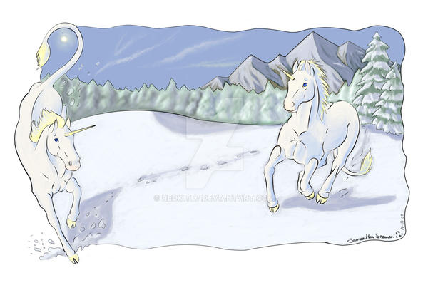 Snow Unicorns by redkite7