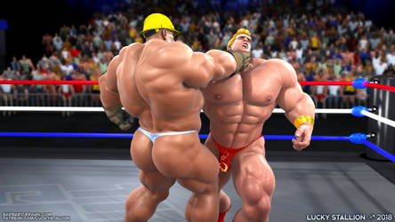 Hard Body Wrestling 03 by lucky-stallion