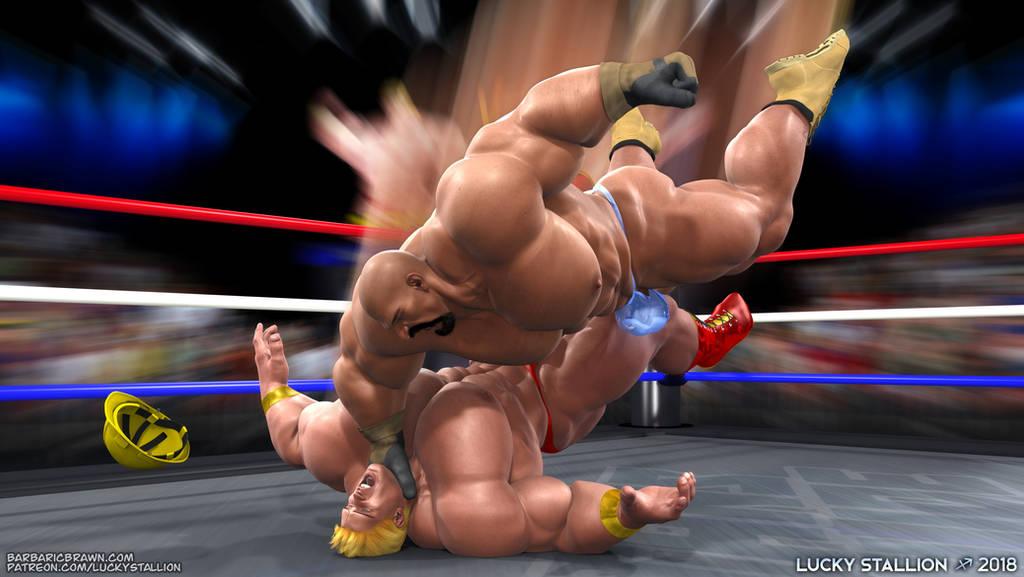 Hard Body Wrestling 04 by lucky-stallion