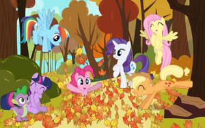 MLP:FIM Autumn Scene Poster by PhilipTomkins