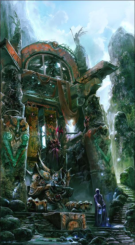 gods fantasy landscape