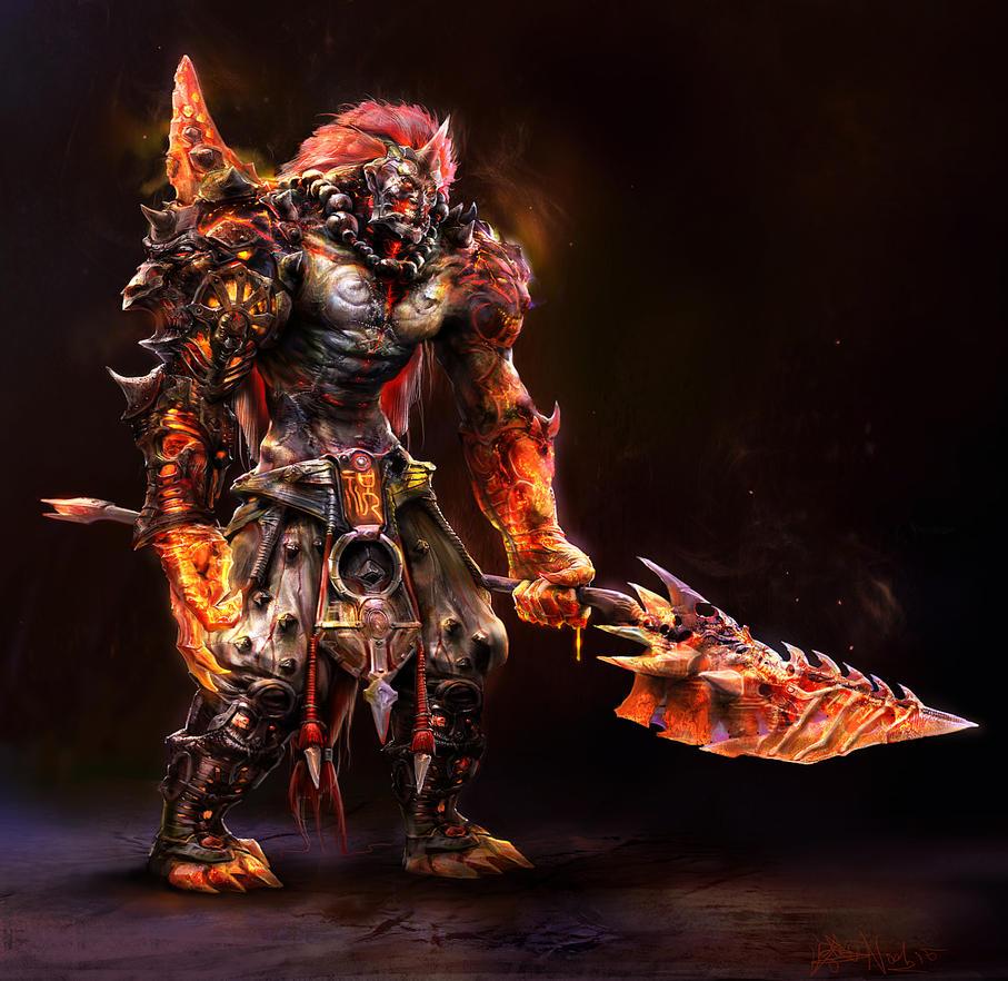 Lava_warrior by noah-kh