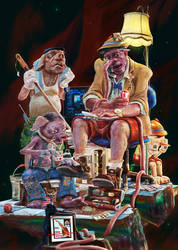 Pinocchio and Three pigs