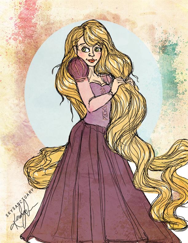 Rapunzel Sketch by KTorresArt