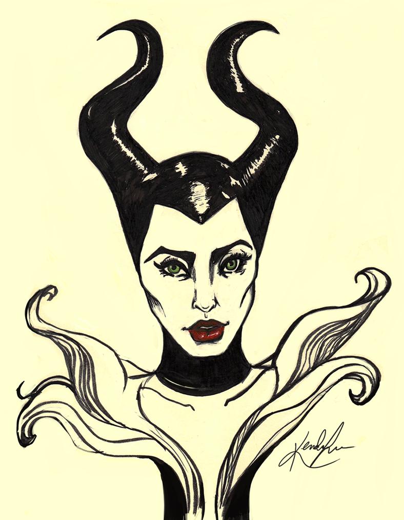Maleficent Sketch by KTorresArt on DeviantArt