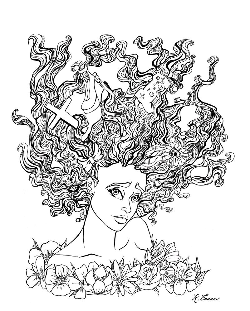 Self Portrait Design by KTorresArt