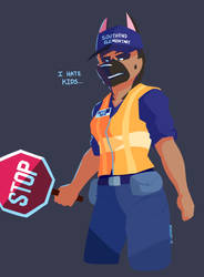 One Pissed Crossing Guard by Newshift