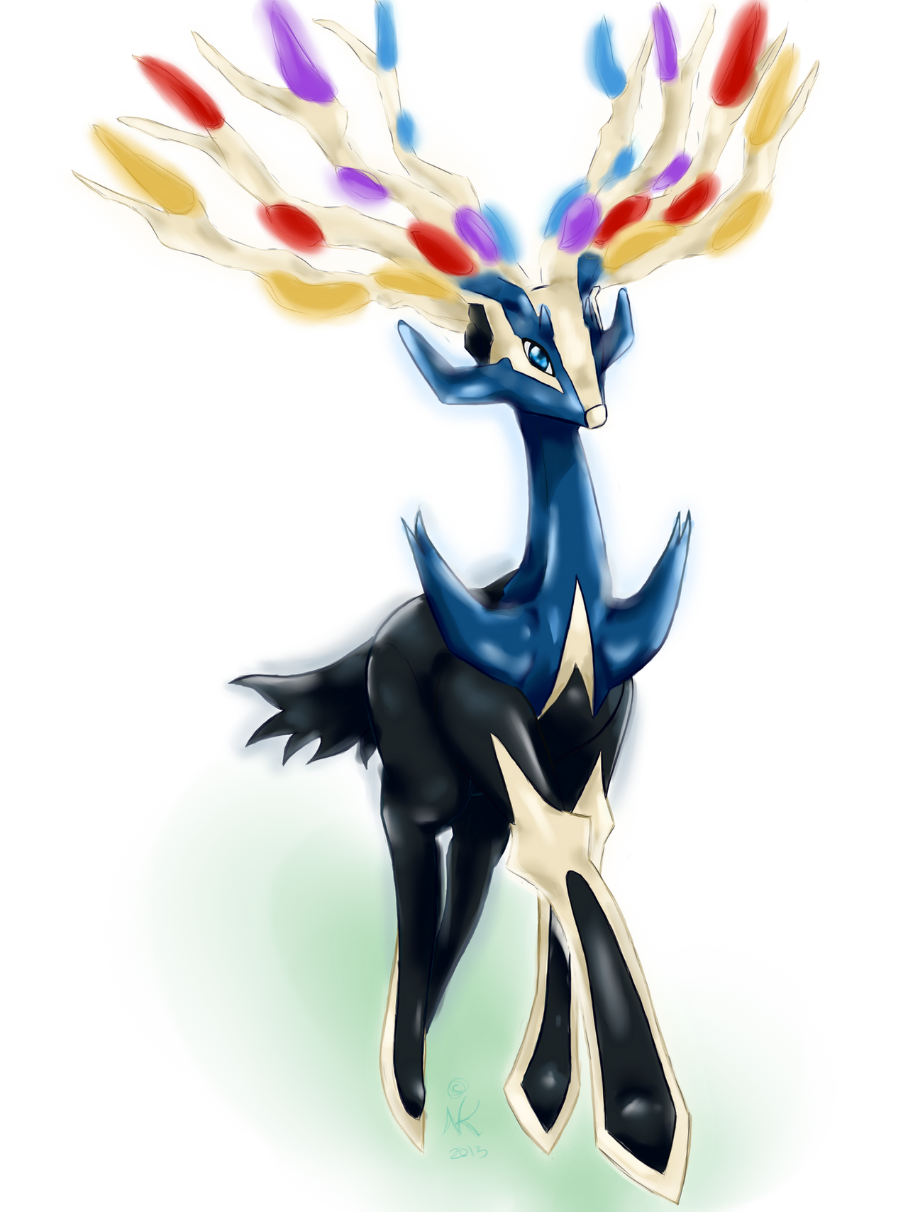 New Legendary Xerneas by LittleOcean