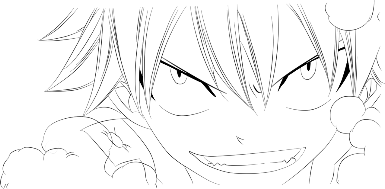 Natsu Lineart : Fairy tail natsu lineart by ftg on deviantart