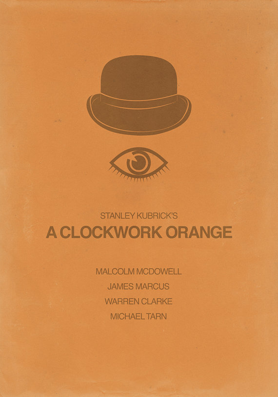 A Clockwork Orange minimalist poster by tillfabriken on ... A Clockwork Orange Minimalist Poster