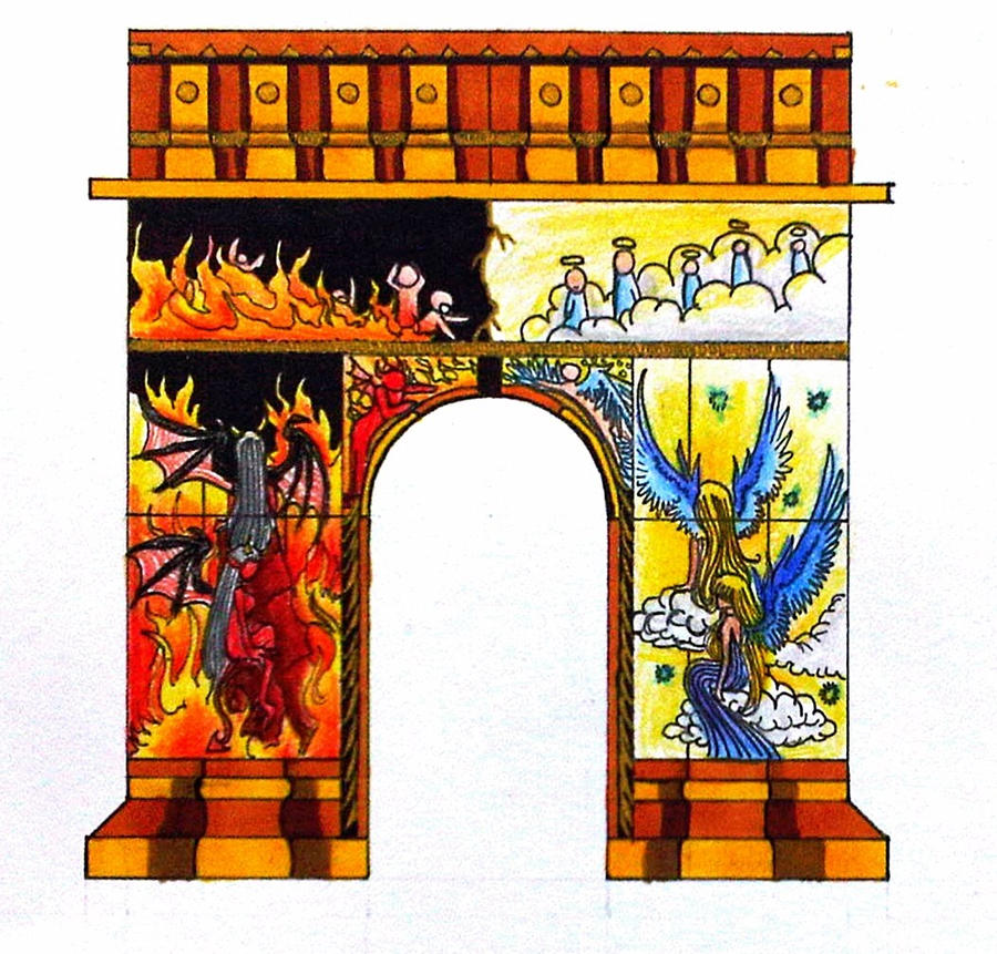 Heaven Gates Drawing Gate of Heaven Earth Hell Frt2