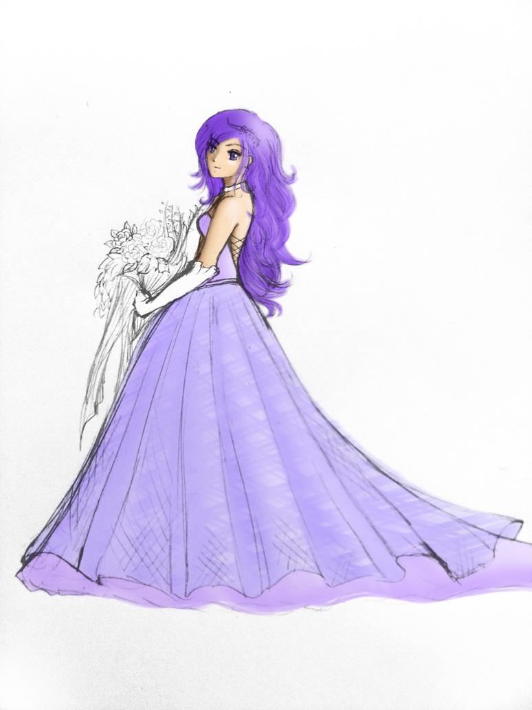 Wedding Dress Lavender lavender wedding dress Wedding Dress Lavender by BlackRose FrozenRose