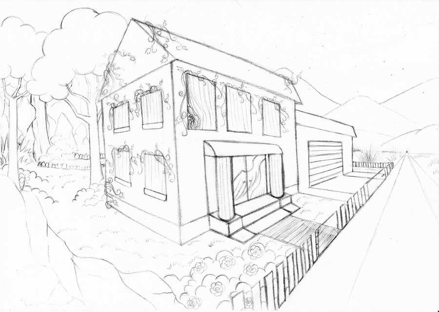Dream House Lineart By BlackRose FrozenRose