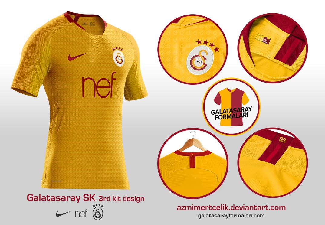 galatasaray 18 19 yellow 3rd kit design by azmimertcelik. Black Bedroom Furniture Sets. Home Design Ideas