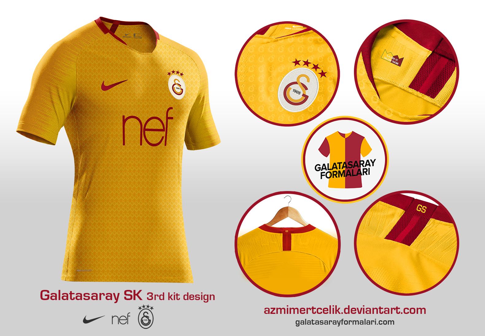 Galatasaray 18-19 Yellow 3rd kit design