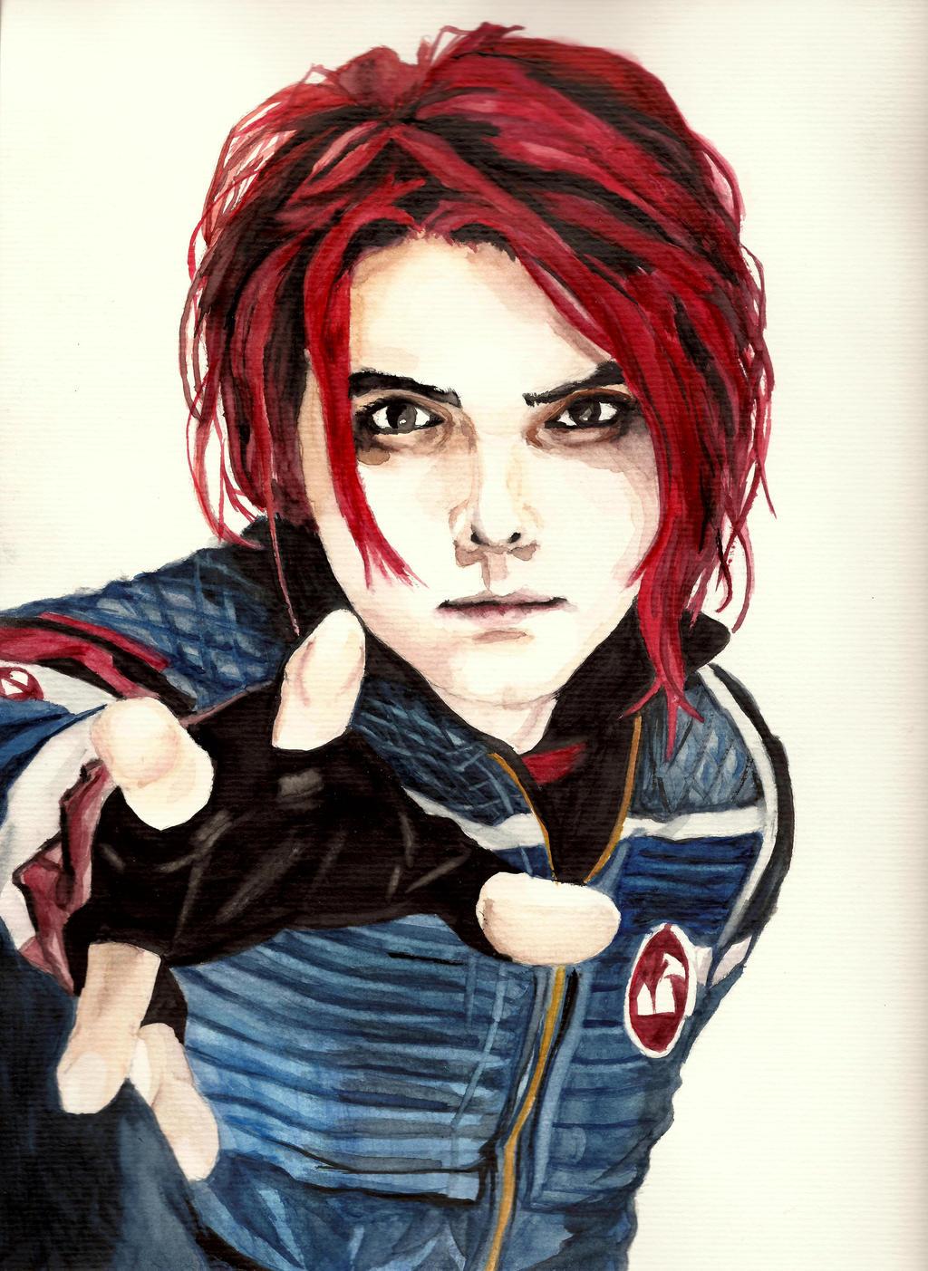 Gerard Way Natural Hair