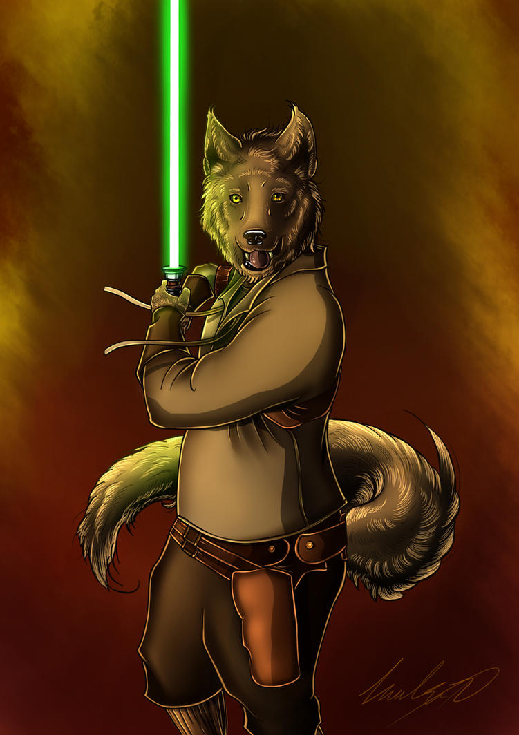 WolfMax, The Master Jedi by Cocacolilla