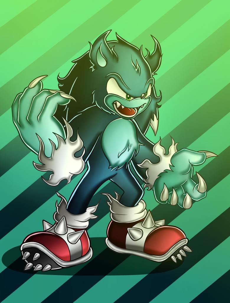 Sonic Werehog by Cocacolilla