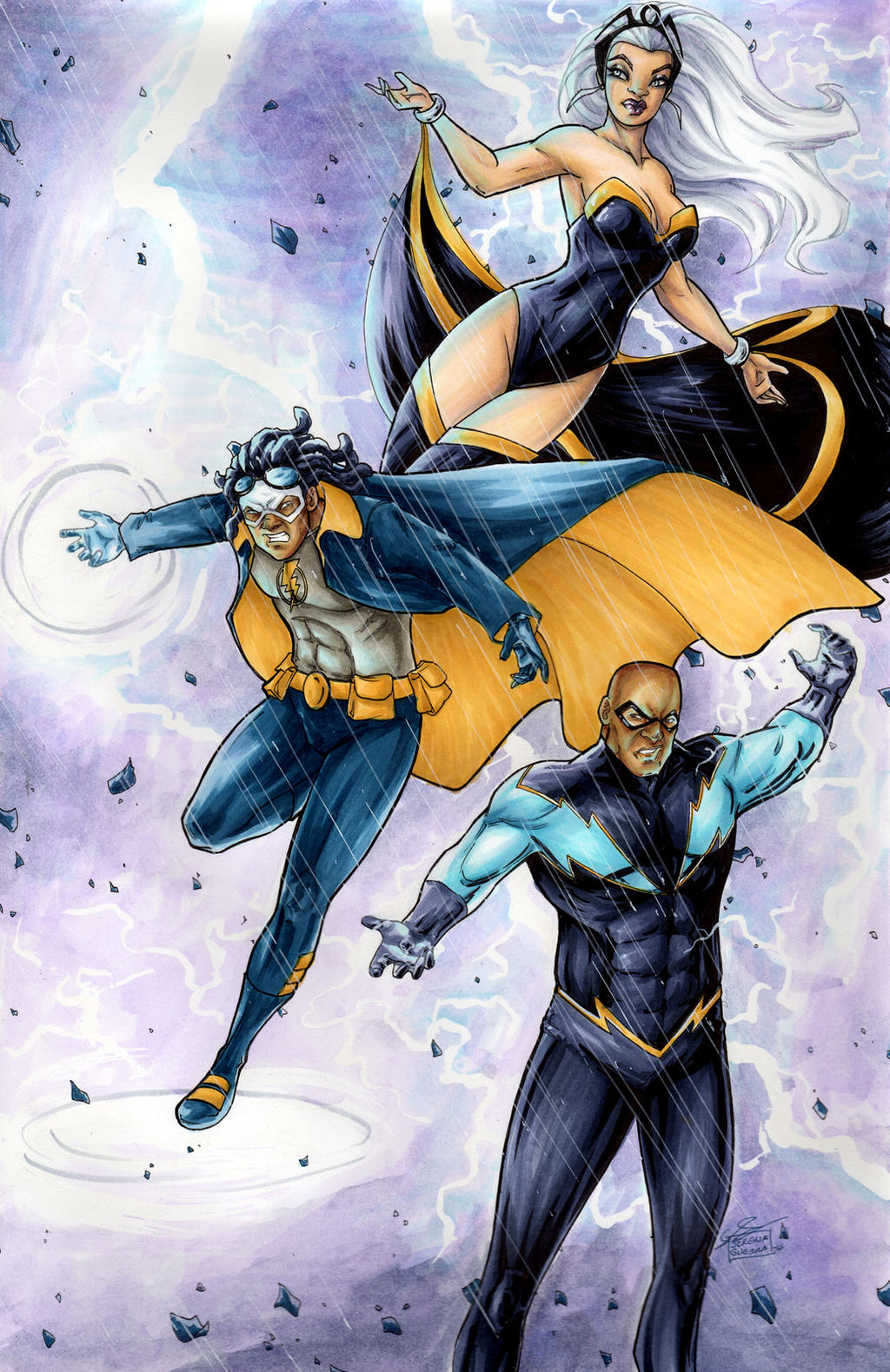 storm static shock black lightning by serenaguerra on