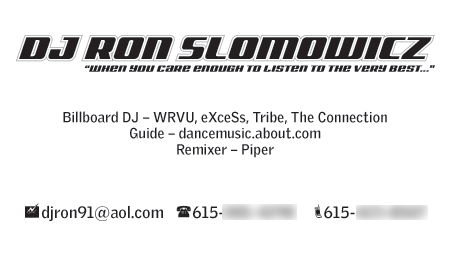 DJ Ron Business Card by ranger99