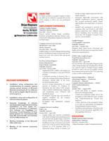 My Resume by ranger99