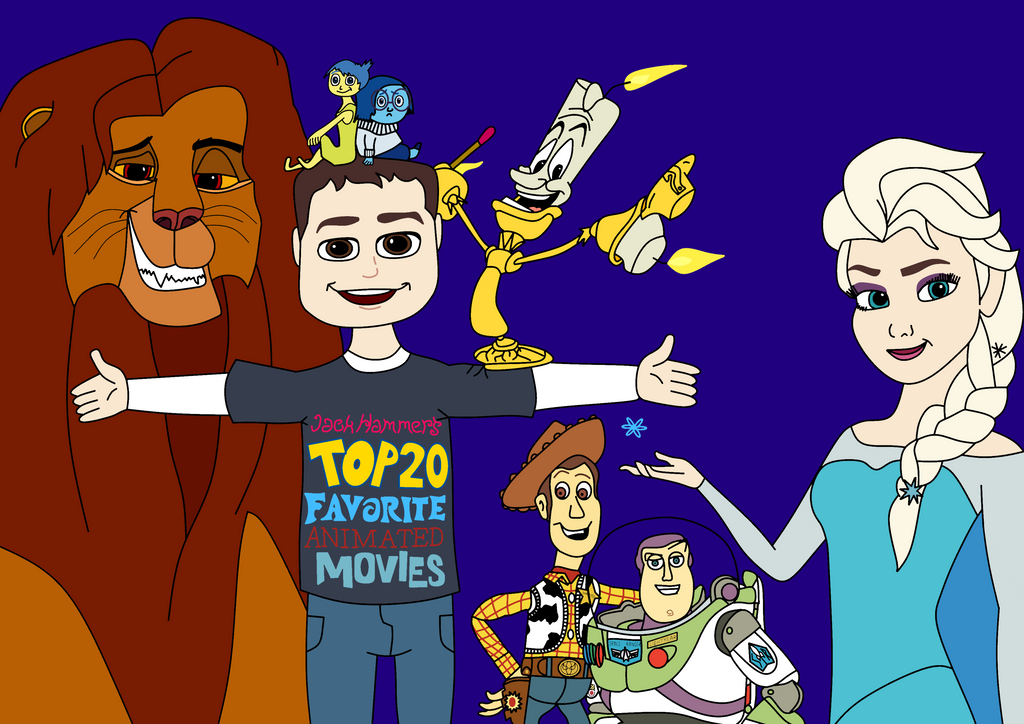 My Top 20 list drawing (color) by JackHammer86