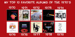 My Favorite Albums of the 1970's by JackHammer86