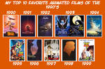My Top 10 Favorite Animated Films of the 1990's by JackHammer86