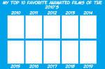 My Top 10 Fav Animated Films of the 2010's meme
