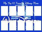 10 Fav Walt Disney Animation Studios Films meme by JackHammer86